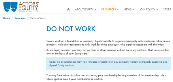 Equity warning